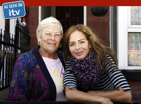 Trinny Woodall and Christine from 7 Days On The Breadline - SinglesOver60.co.uk