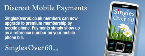 SinglesOver60.co.uk mobile phone payments